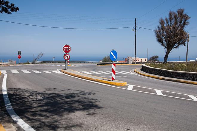 Η επίμαχη διασταύρωση στον Πύργο. Φωτογραφία: Κωνσταντίνα Σιδηροπούλου