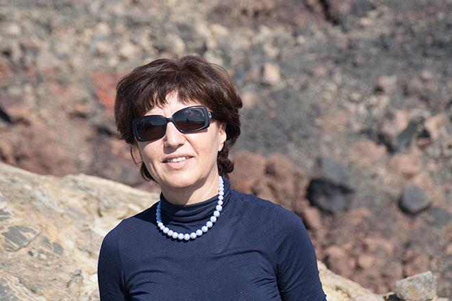 Η πρόεδρος της ΓΕΩΘΗΡΑ, δημοτική σύμβουλος, κα Κατερίνα Καραμολέγκου