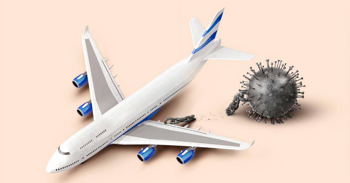 Αεροπλάνο δέσμιο του Covid-19