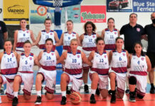 Γυναικεία ομάδα της ΑΕ Σαντορινης