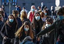 Μάσες στους εξωτερικούς χώρους στην Ιταλία