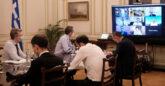 Τηλεδιάσκεψη υπό τον Πρωθυπουργό στο Μέγαρο Μαξίμου