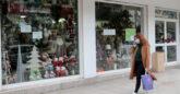 Κλειστό κατάστημα με χριστουγεννιάτικα είδη