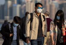 Κόσμοςμε μάσκες στο Χονγκ Κονγκ
