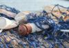 Θαλάσσια απορρίμματα μέσα σε δίχτυ