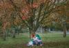Θηλασμός κάτω από δέντρο σε πάρκο